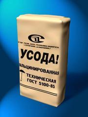Сода кальцинированная  марки А,  1 сорт (МКР) и марки Б (мешки, МКР)