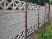 Забор из бетона декоративный