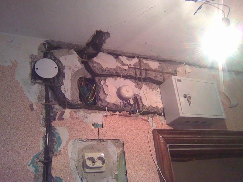 Как заменить проводку в квартире фото
