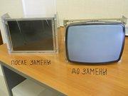 Замена мониторов ЭЛТ CRT на LCD TFT ЖКИ и ремонт промоборудования