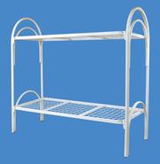 Кровати железные на металлической сетке: одноярусные и двухъярусные эконом вариант -оптом