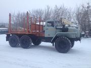 Лесовозный тягач Урал