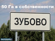 Земля рядом с п. Зубово (2 км.),  под ДНТ,  50 га в собственности