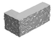 Камень бетонный Г-образный
