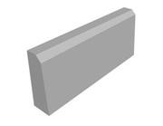 Бордюрный камень тротуарный односторонний (вибролитье)