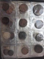 царские монеты в количестве 30 шт. 2 кг. Монеты СССР.