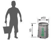 Складная ёмкость (бак/бочка) для воды EKUD 100 литров (h=65,  d=50)в