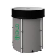 Новая складная ёмкость (бак/бочка) для воды EKUD 500 литров с крышкой (h=100,  d=80)